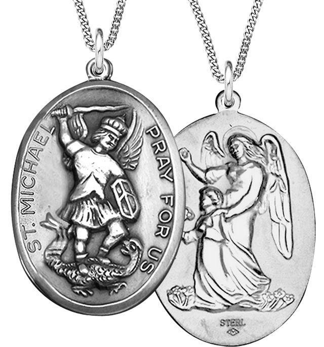 Silver Oval St Michael Medal