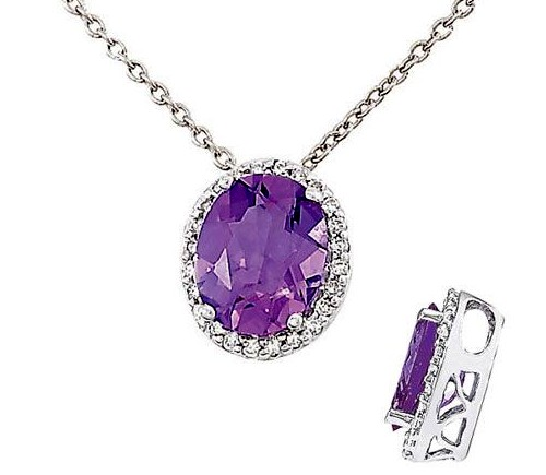 White Gold Amethyst Jewelry