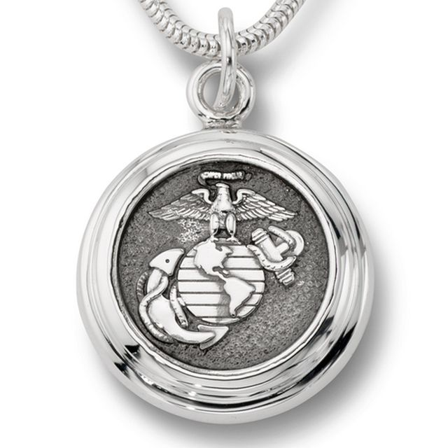 White Gold Military Pendant