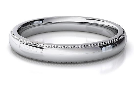 White gold women's classic wedding band